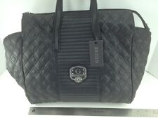 Women's GUESS XL Black LEATHER MICA Style Shoulder Bag - $110 MSRP - 20% off