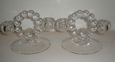 Vintage Imperial Glass Candlewick Candle Sticks Two Light #400 1936-1982