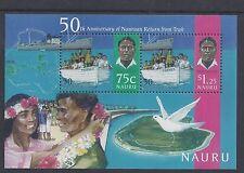 1996 NAURU RETURN FROM TRUK MINISHEET FINE MINT MUH/MNH