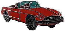 MG MGB Rubber bumper car cut out lapel pin - Red body
