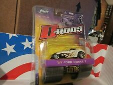 JADA D-ROD$  '27 FORD MODEL T  WHITE W/ PURPLE FLAMES D RODS   2006  WAVE 3 NEW!
