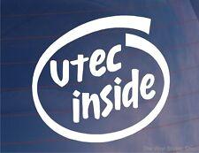 VTEC INSIDE Novelty Car/Window/Bumper Sticker - Ideal For Honda Civic/Integra