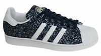 Adidas Originals Superstar Lace Up Blue Synthetic Mens Trainers S85980 M9 Y10B