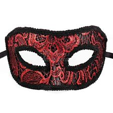 Costume Lace Venetian Details Masquerade Ball Mask M3182 [Red/Black]