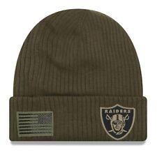 new product 4e66d 33e58 2018 Oakland Raiders Era NFL Salute to Service Knit Hat Sideline Beanie Cap