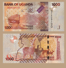 UGANDA BANKNOTE 1000 SHILLINGS  BANCONOTA FIOR DI STAMPA UNC PREZZO ANTILOPE