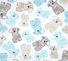 Fat Quarter Doodle Dog 100% Cotton Quilting Fabric Benartex