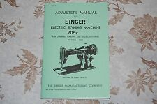 Professional Adjusters Manual on CD to service 206, 206K Singer Sewing Machines