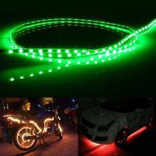 Green Light Flow Style 45 LED 3528 SMD Waterproof Flexible Car Strip Light for C