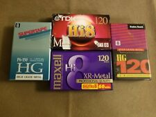 Lot of 4 Sealed 8mm Cassette Tapes Mawell, TDK, Supertape, RadioShack 120 150