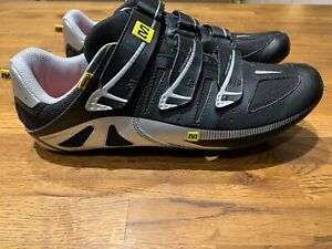 Mavic Peloton Road Cycling Shoes Silver/Black Size EU44 UK10 No Reserve