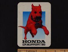 1990 HONDA CR SUPPORT RACE TEAM STICKER Vintage Motocross CR125R CR250R CR500R