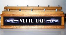CORVETTE VETTE BAR LED 11 beer tap handle DISPLAY WITH BUILT IN BAR SIGN