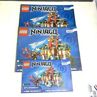 2014 Lego Ninjago Battle For City 70728 Books 3 MANUALS ONLY