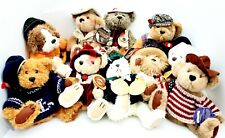 BRASS BUTTON BEAR LOT Collection Hand Crafted Fully Jointed 10 PLUSH BEARS VGUC!
