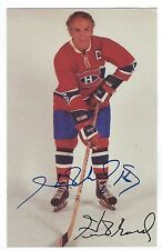 Henri RICHARD Signed Montreal Canadiens Photo Card