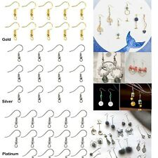 US 100-200 DIY JEWELRY Making Findings Earring Hook Coil Ear Wire French Hook