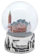 Schneekugel Frankfurt Römer Ostzeile Nicolai,Snowglobe Germany Souvenir