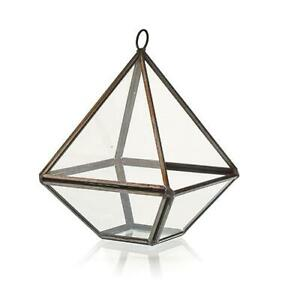 Glass Terrarium - Small Diamond - Plants - Decoration - 10cm