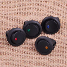 4x Waterproof ON/OFF Car 12V Round Rocker Dot Boat LED Light Toggle Switch TOP