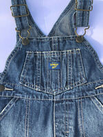 Osh Kosh B'Gosh Bib vestback Overalls Pants Denim Size 18 months