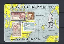 NORWAY 1977 POLARFILEX TROMSO special souvenir sheet with cancel