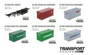 1/50 DM SKELETAL TRAILER Model / 20'' DRY GOODS SEA CONTAINER Toy
