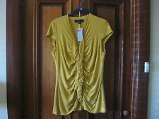 BNWT Gorgeous CapSleeve top. Gold/Mustard size L (12-14)