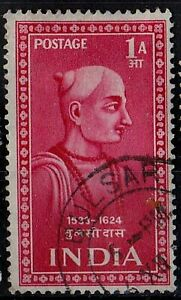 INDIA 1952 Tulasidas Indian Saints and Poets /Mi:IN 222/ 1an STAMP