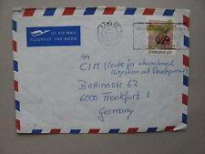 ZIMBABWE, cover to Germany 1991, food fruit