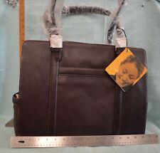 "NEW FRANKLIN Covey Business PORTFOLIO Brown Fits 15"" Laptop BAG Leather VINTAGE"