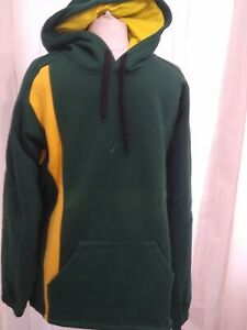 mens green and yellow hoodie