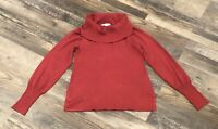 Womens White House Black Market Red Cowel Neck Sweater Size Small Gently Used