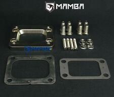 MAMBA Garrett T3 to T4 Undivided CNC turbo header flange + gasket + stud