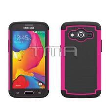 Samsung Galaxy Core LTE SM-G386W Heavy Duty Dual Layer Hybrid Case - Hot Pink