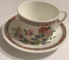 Flower Of Tibet Bone China Coalport Coffee Cup And Saucer, Made In England