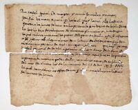 MANUSCRIPT. DOCUMENT WRITED IN BESALÚ, IN CATALAN. GIRONA. SPAIN. CIRCA 1530