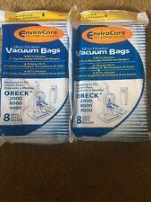 Oreck Vacuum Bags Micro Filter Fits 2000 8000 9000 Total Bag Count 16