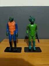 Lot of Two Vintage 1978 Kenner Star Wars Figures! Greedo and Walrus Man!