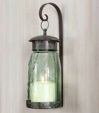 Country new quart mason jar candle wall sconce w/bracket / nice