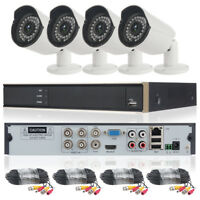 4CH AHD 1080N HD 720P 1.0MP CCTV DVR Outdoor IR Home Security Camera System IP65