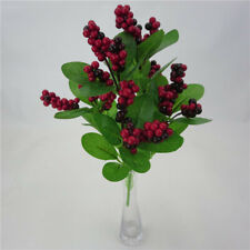 Artificial Flower Mini Fake Fruit Small Berries Red Fruit Christmas Craft Gift D