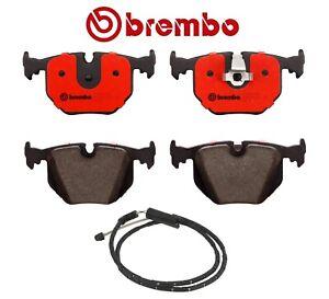 For BMW E83 X3 04-10 Rear Brembo Disc Brake Pad Set and Disc Brake Wear Sensor