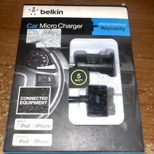 Belkin MicroCharge + ChargeSync (1 Amp) Car Charger Bundle for Apple iPh