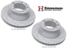 For Porsche 911 944 968 Set of 2 Rear Disc Brake Rotors Zimmermann X-Drilled