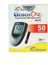 Dr.Morepen Gluco One Monitor with 50 Strips Kit, BG 03 Free Shipping