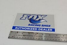 "Genuine Fox Racing 'Authorized Dealer' Decal, 7x4"", Blue, Brand New"