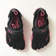 FILA Toe Shoes Water Skele-toes Size 1 Black Pink Rubber Sport Shoes Kids