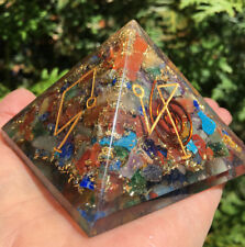 Archangel Orgone Pyramid ,Crystal Gemstones,Copper Metal Mix Rare 100 mm,Chakra