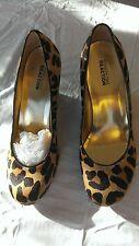 Womens New Kenneth Cole Reaction Leopard Wedge Shoes Size 10 Medium NIB NWB